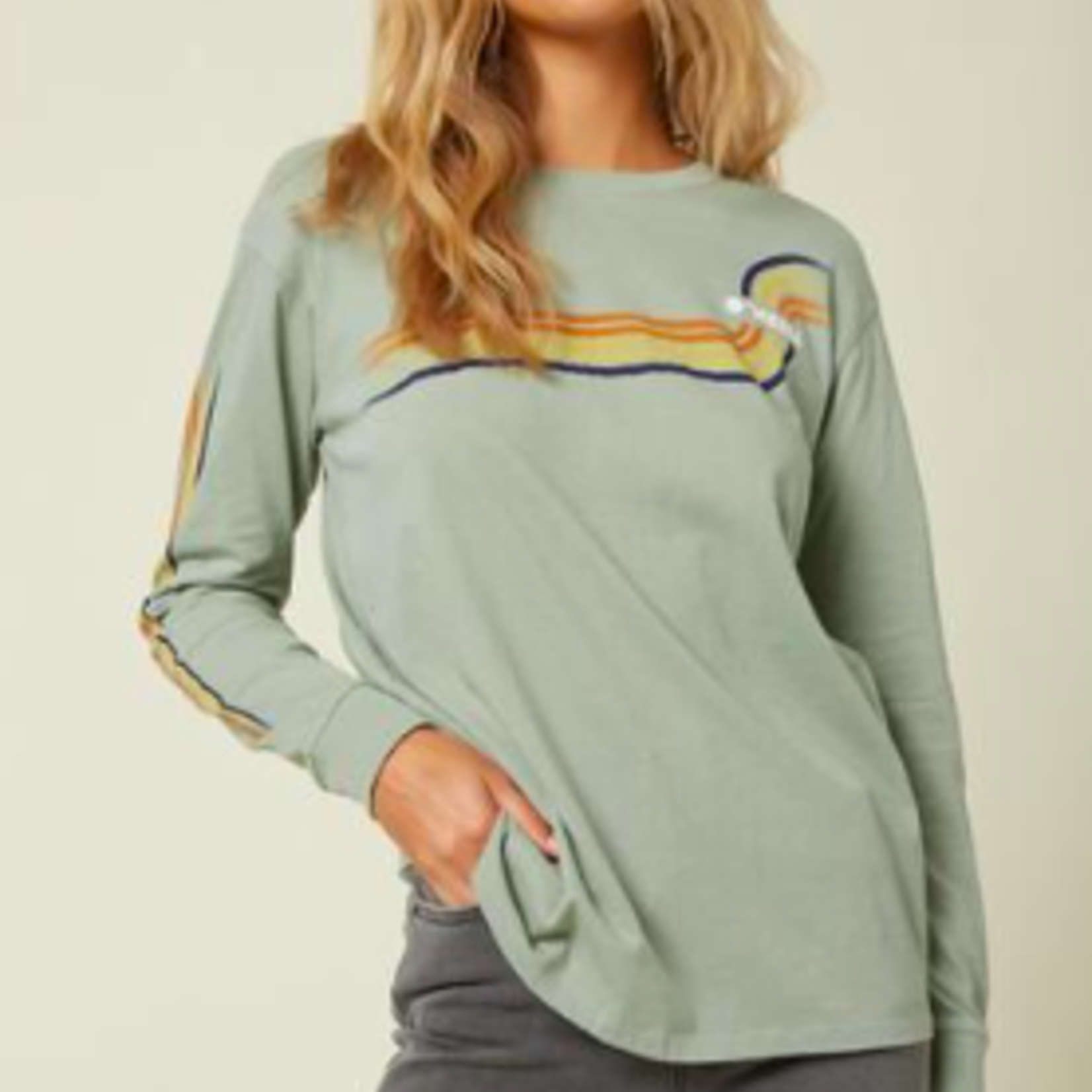 O'Neill O'neill Womens Bronzing Long Sleeved Logo T-shirt.