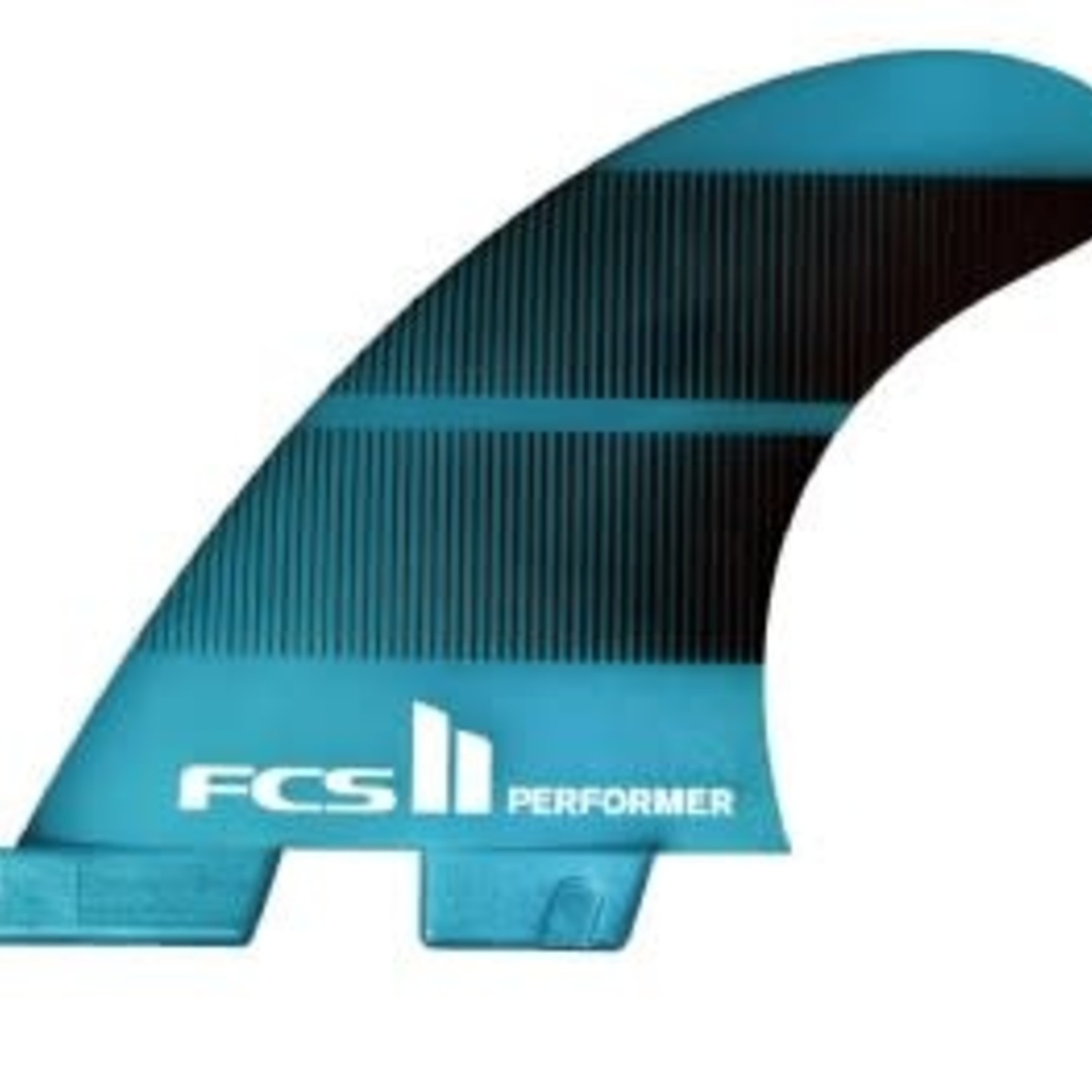 FCS FCS II Performer Neo Glass Medium Teal Gradient Quad Fins Med