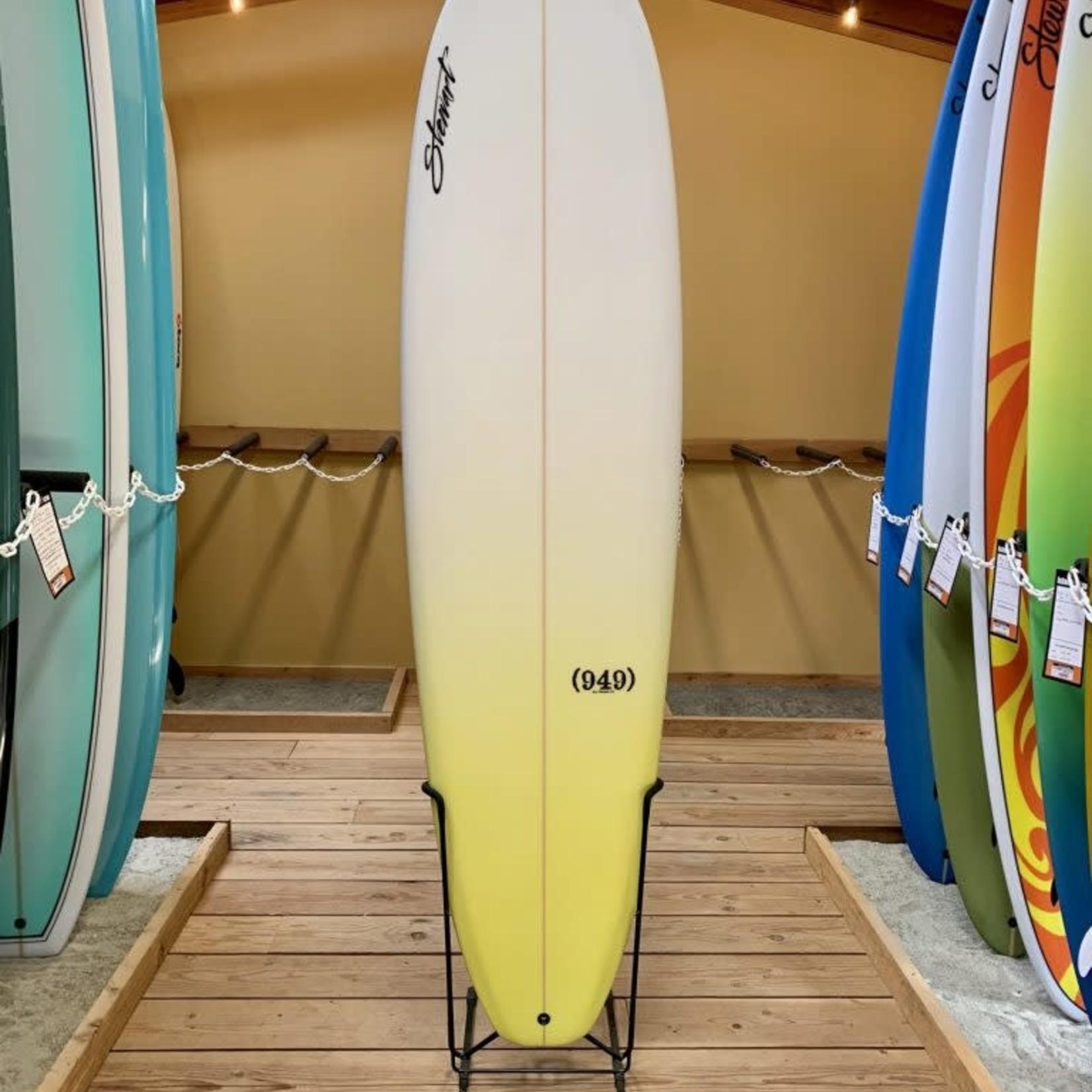 Stewart Surfboards 7'2 Stewart (949) yellow fade.