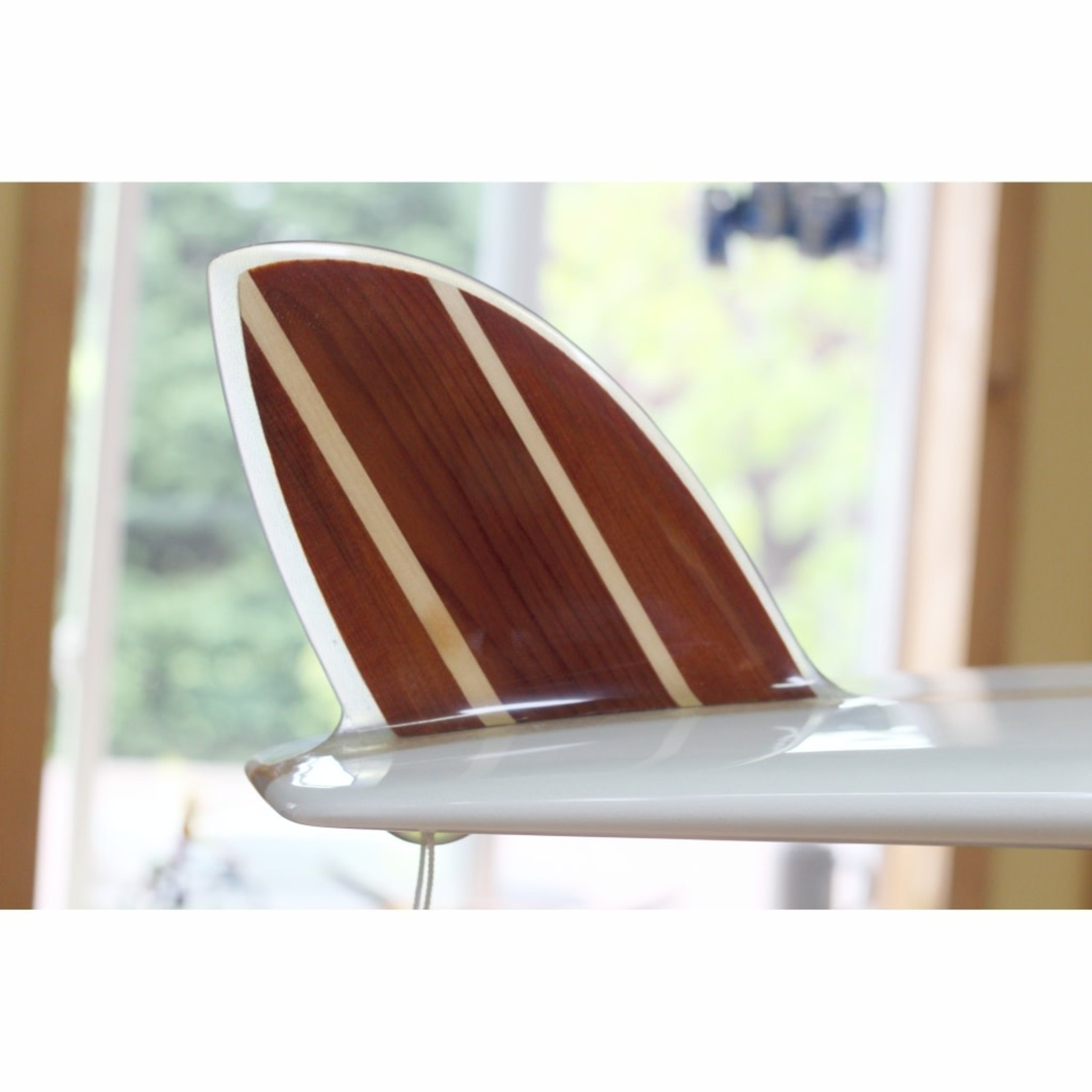 "Island Surf Company 9'6 Island Surf Company Art Series ""Surf 'n Turf"" Single Fin Pig Longboard."