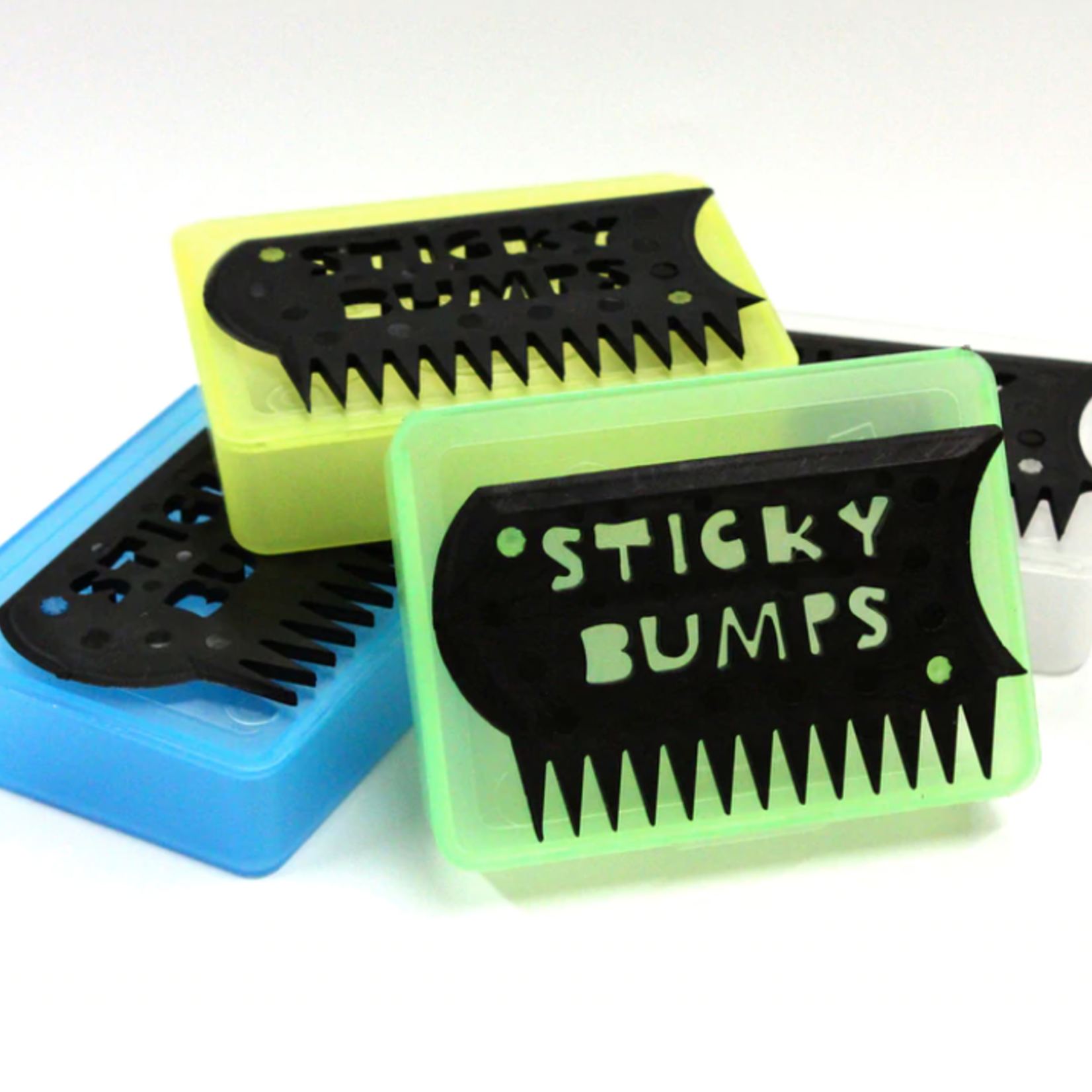 Sticky Bumps Surf Wax Case with Comb.