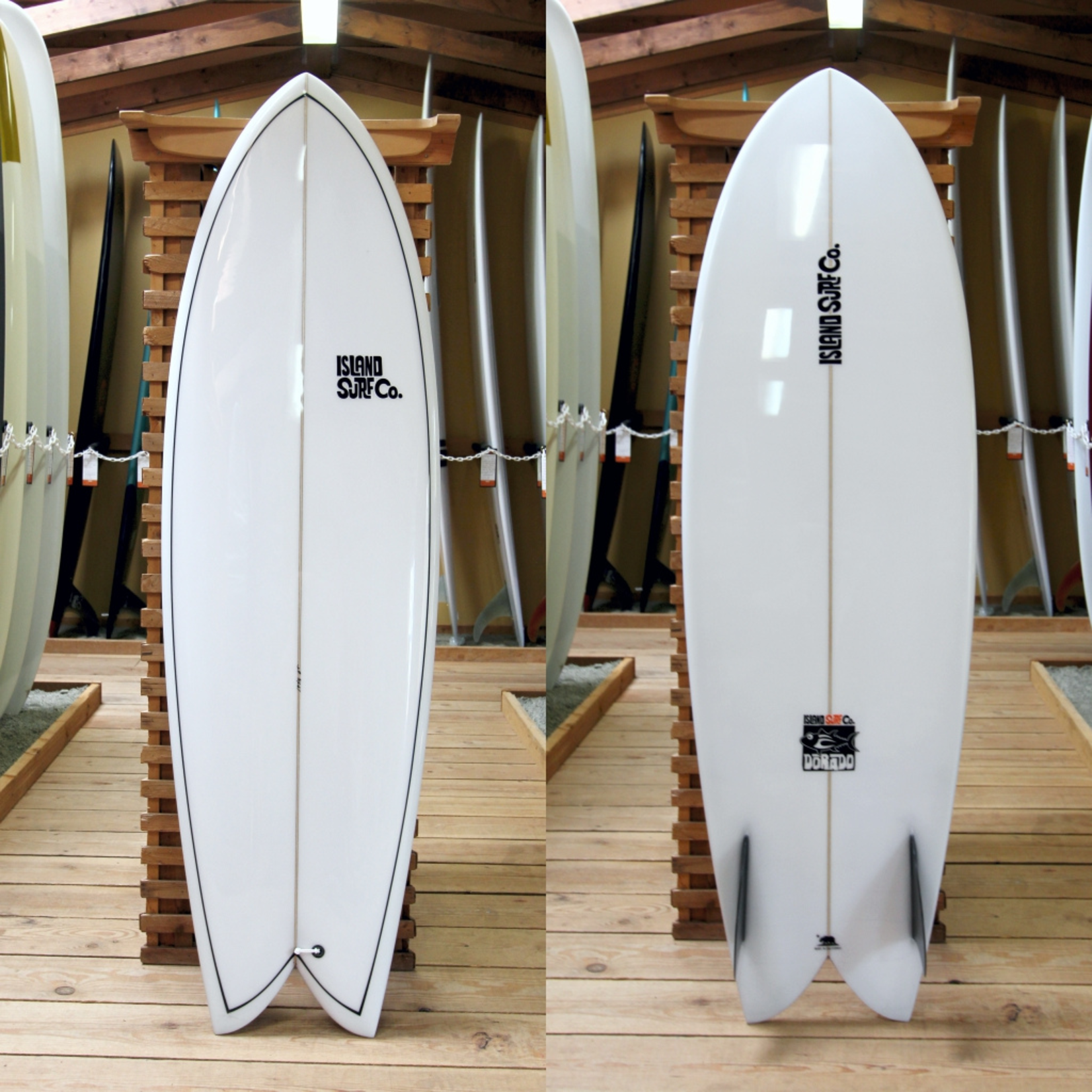 Island Surf Company 6'4 Island Surf Company Dorado Twin Fin Fish. .Surfboard.