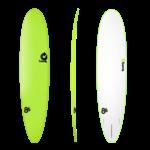 TORQ Surfboards Prebook Torq Wide WhiteGreen/White 8'6 SoftDeck