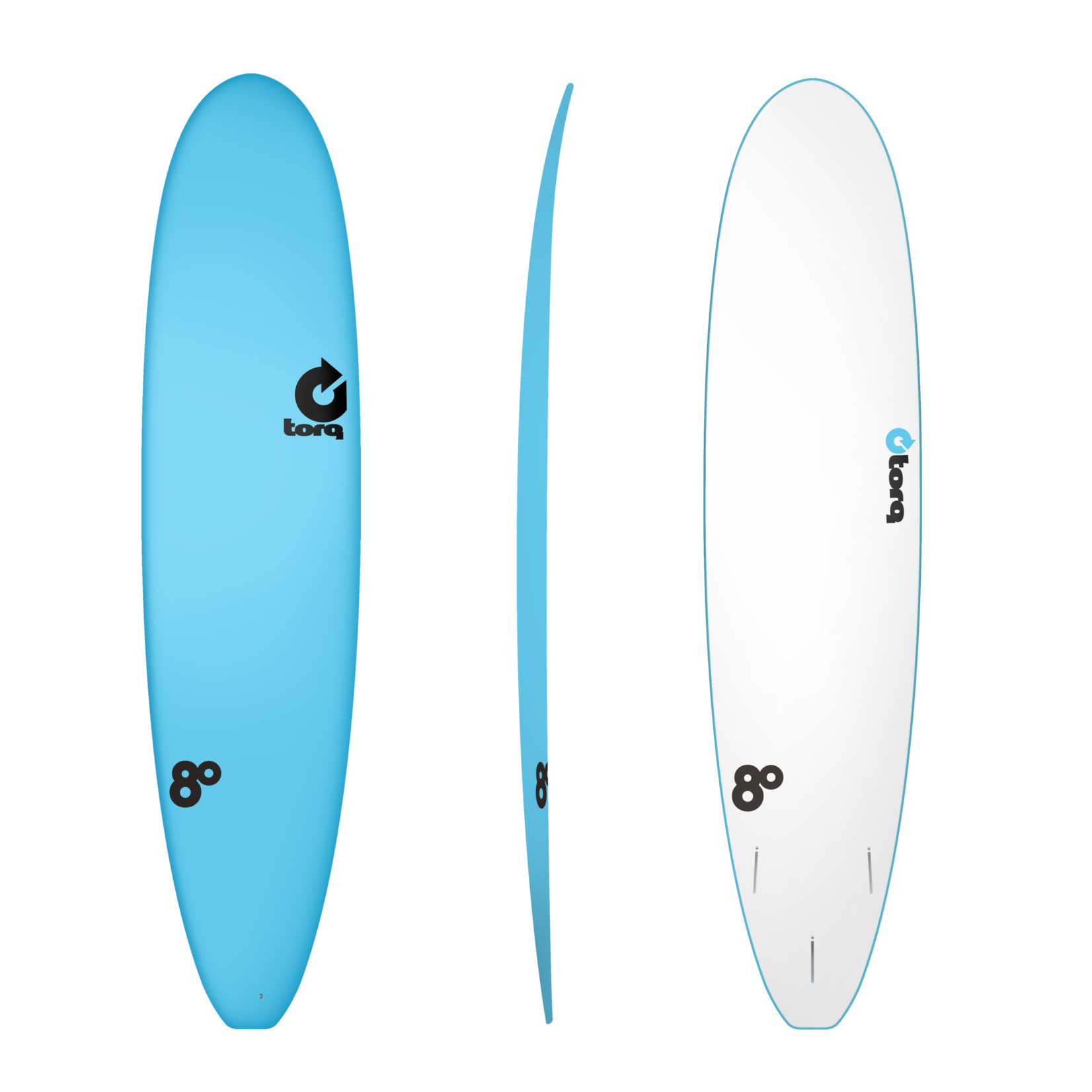 TORQ Surfboards Prebook Torq Wide White Blue/White 8'0 SoftDeck