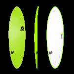 TORQ Surfboards Prebook Torq Wide White Green/White 7'6 SoftDeck