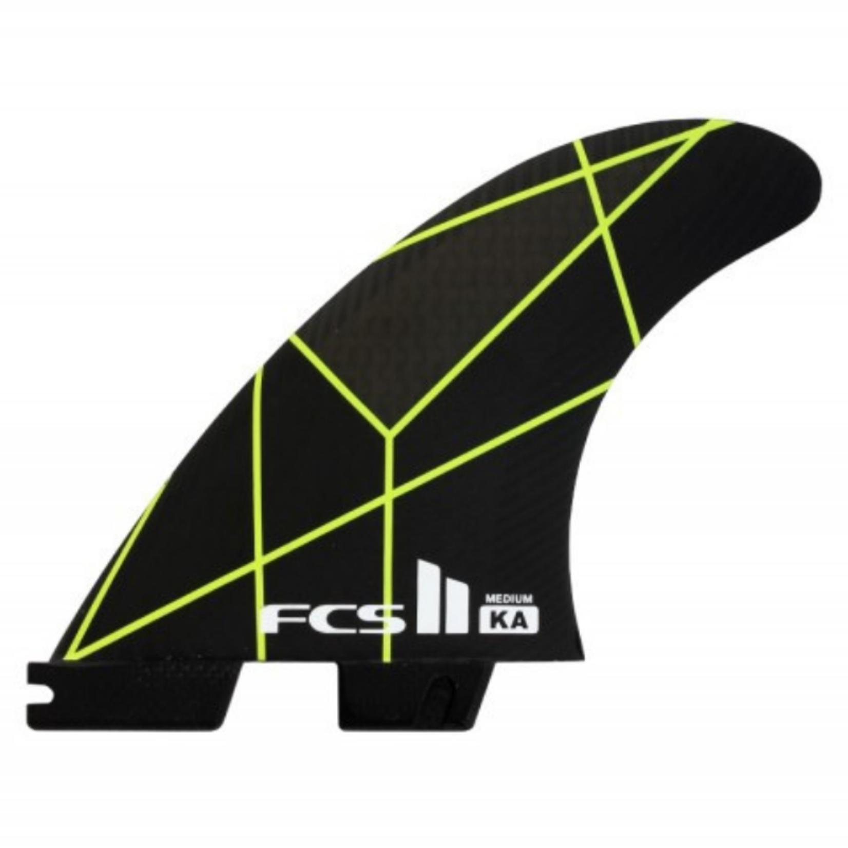 FCS II FCS II KA PC Yellow/Grey Tri Fins Medium