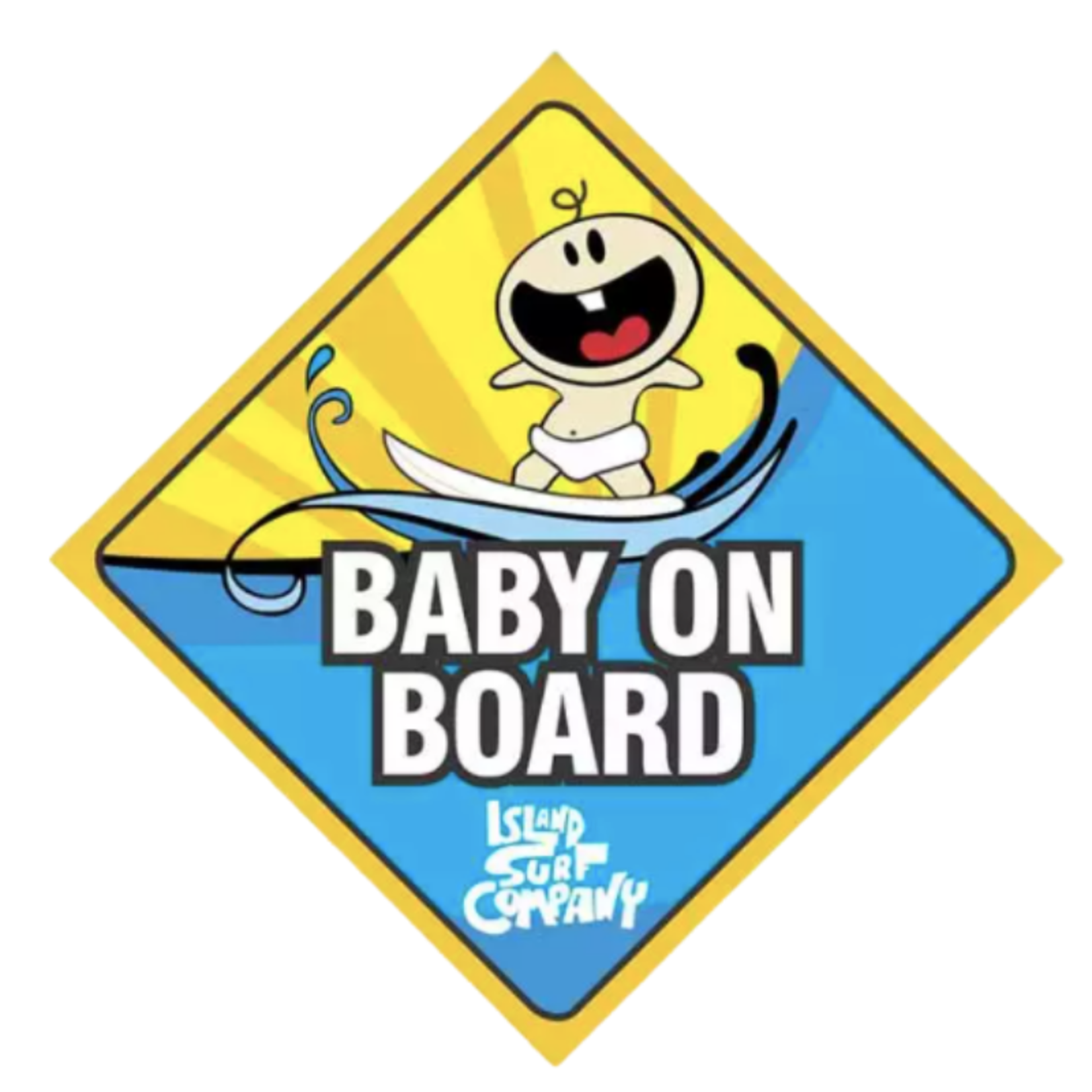 Island Surf Company Island Surf Company Baby on Board Sticker
