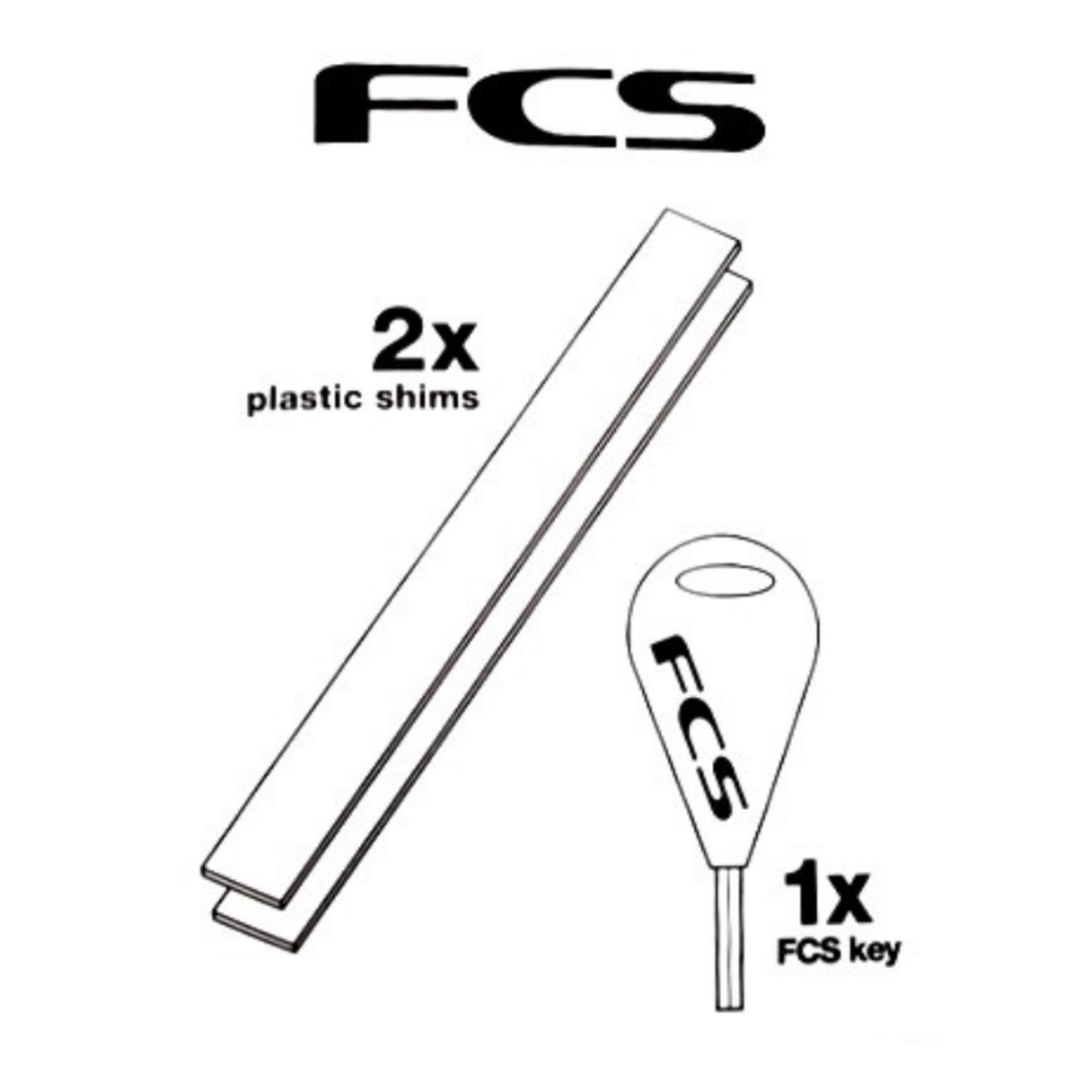 FCS FCS plastic shims X2 + Fin Key