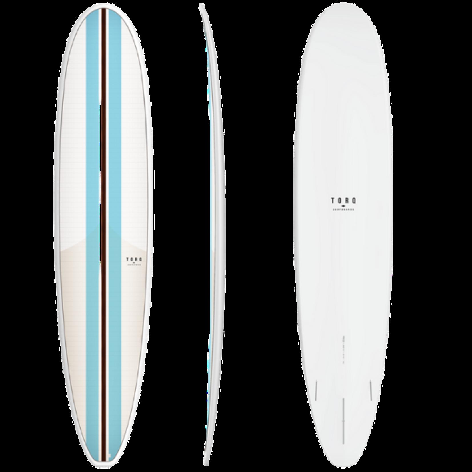 TORQ Surfboards 9'0 Torq TET Vortex Blue  Classic Stripes Longboard