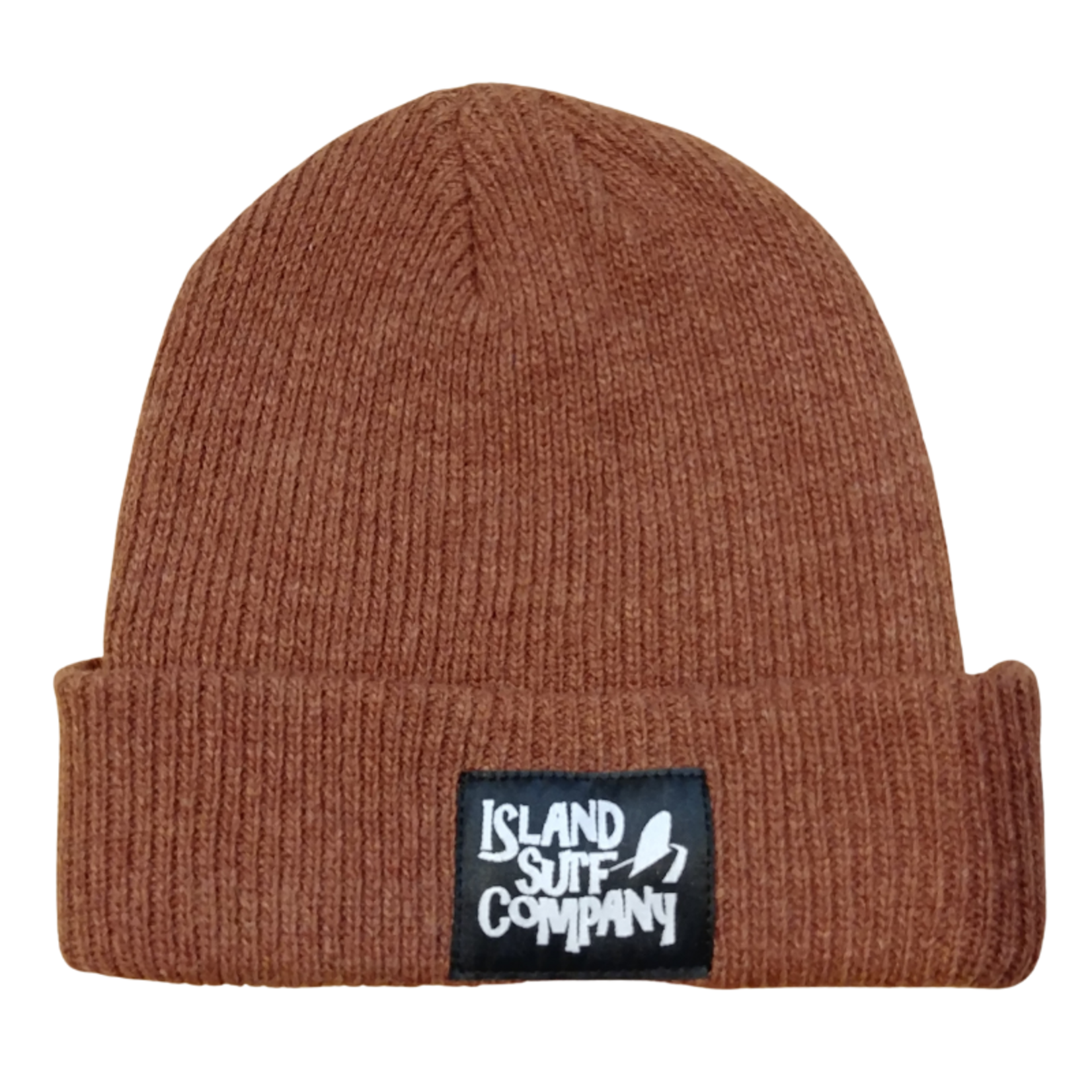 Island Surf Company Merino Wool Patch Logo Beanie.