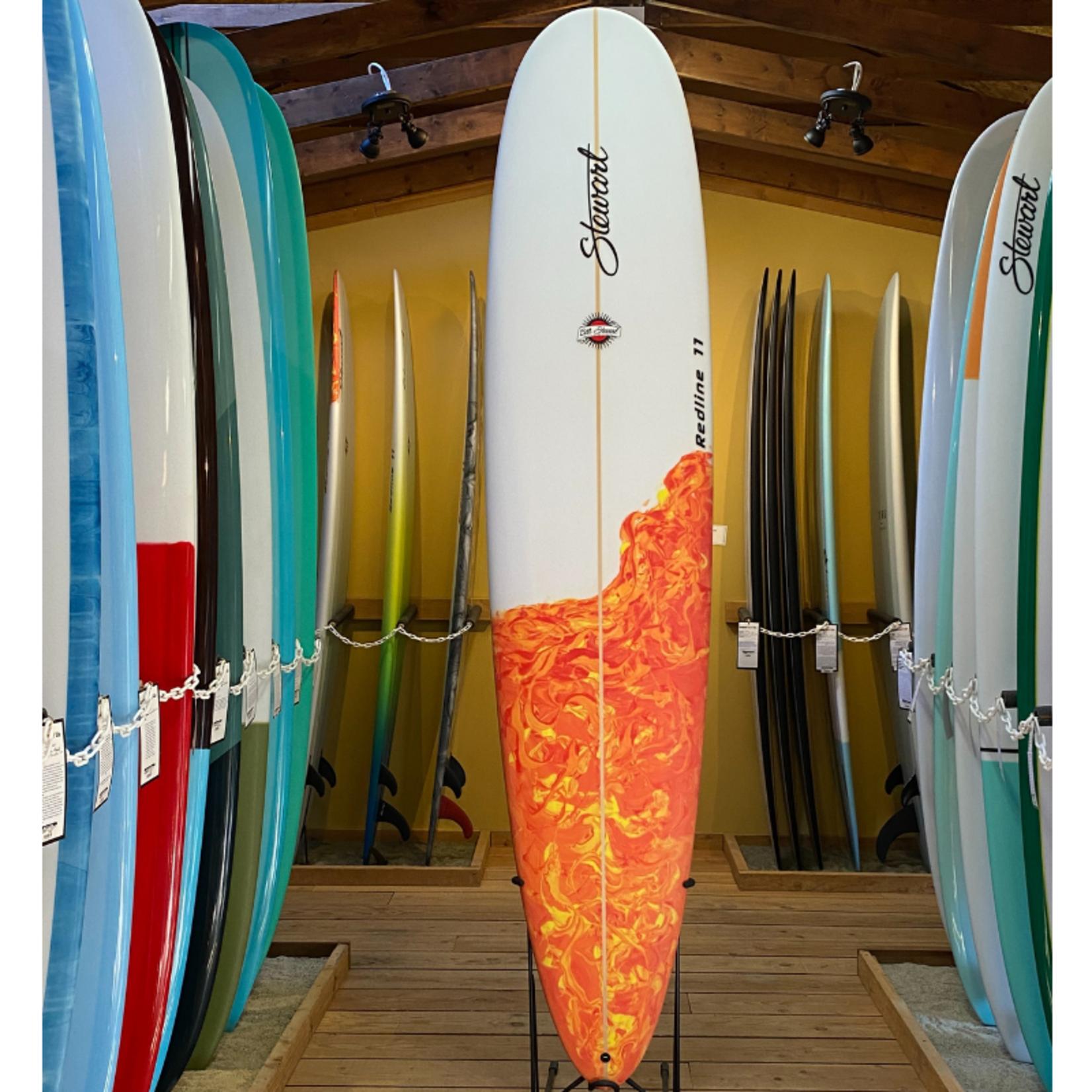 Stewart Surfboards 9'0 Stewart Redline 11 performance surfboard bottom flame