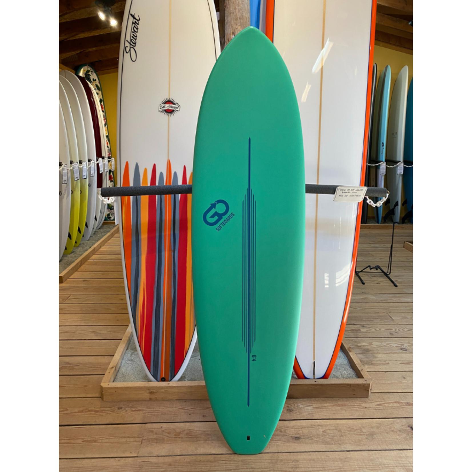 TORQ Surfboards 6'4 Torq GO Green/White Soft Deck