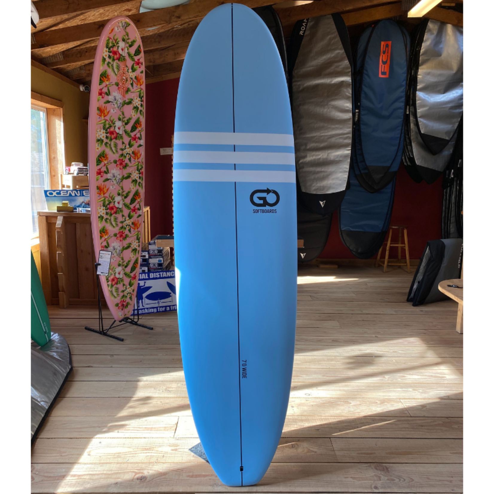 TORQ Surfboards 7'0 Torq GO Wide White Blue/White  SoftDeck
