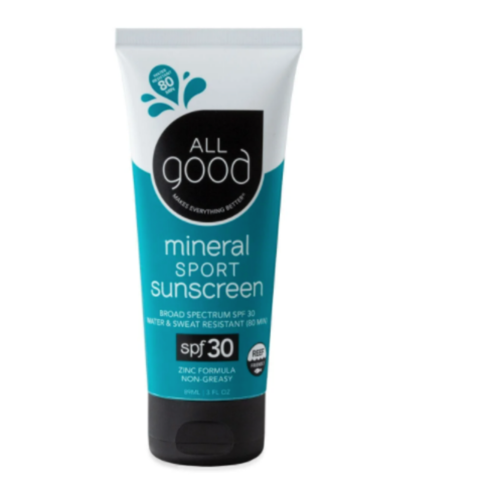 All Good SPF 30 Sport Mineral Sunscreen Lotion, 3 oz.