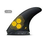 Futures. Futures Fins AM2 Thruster Alpha Carbon Yellow