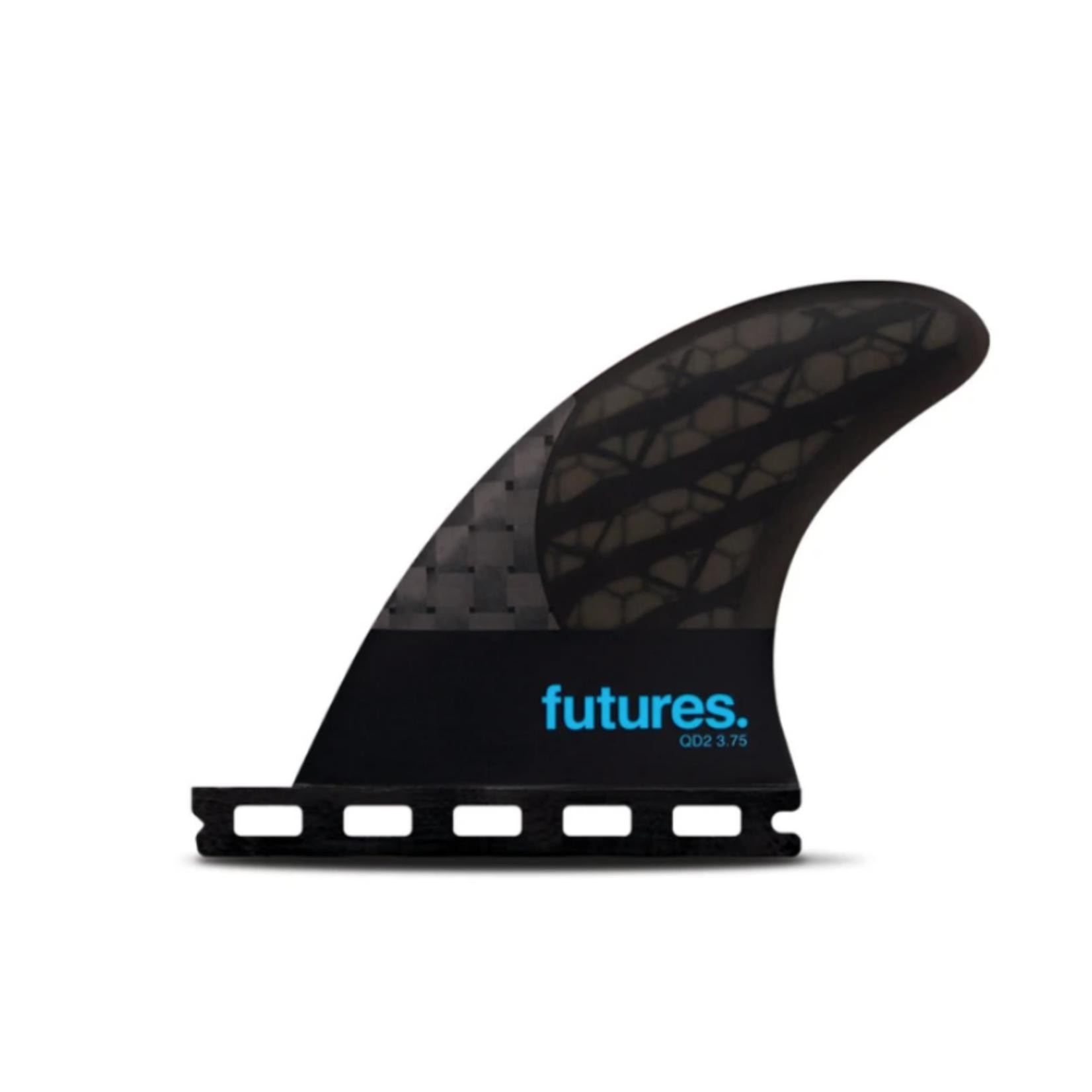 Futures. Futures Fins Quad Rear 3.75 Small Turquoise