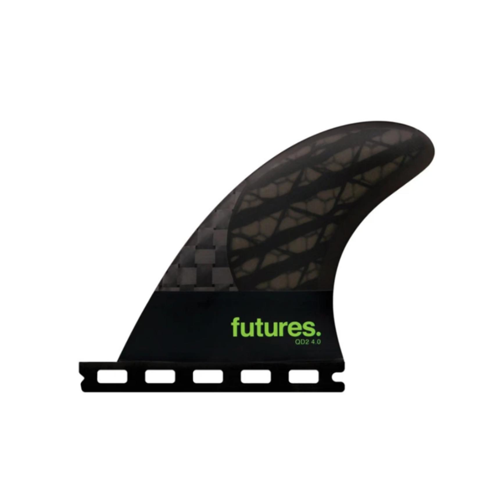 Futures. Futures Fins Quad Rear 4.0 Medium Green