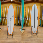 TORQ Surfboards 6'10 Torq Tet Fish, Orange Rail Carbon Stringer
