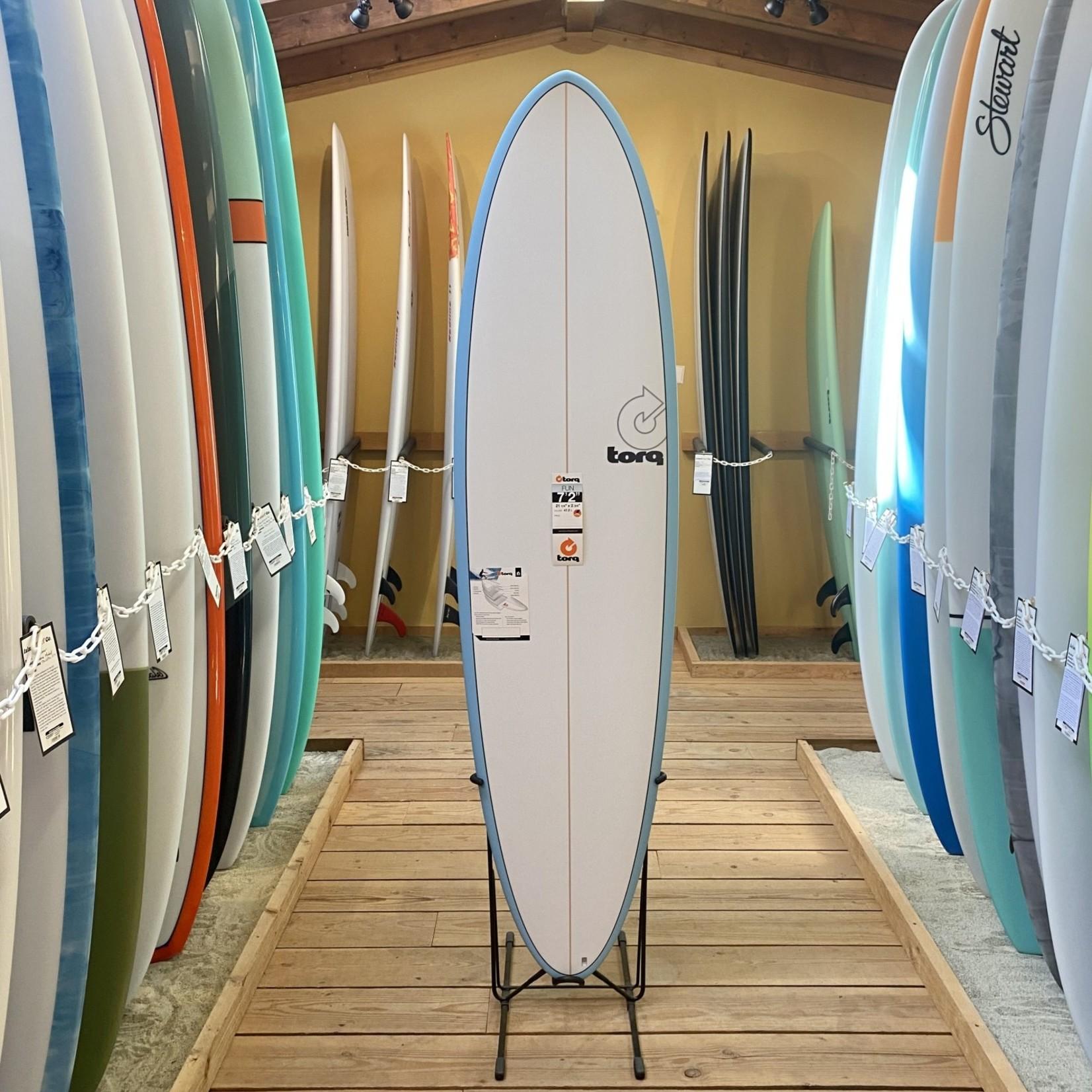 TORQ Surfboards 7'2 Torq TET Blue Pinline Mod Fun*