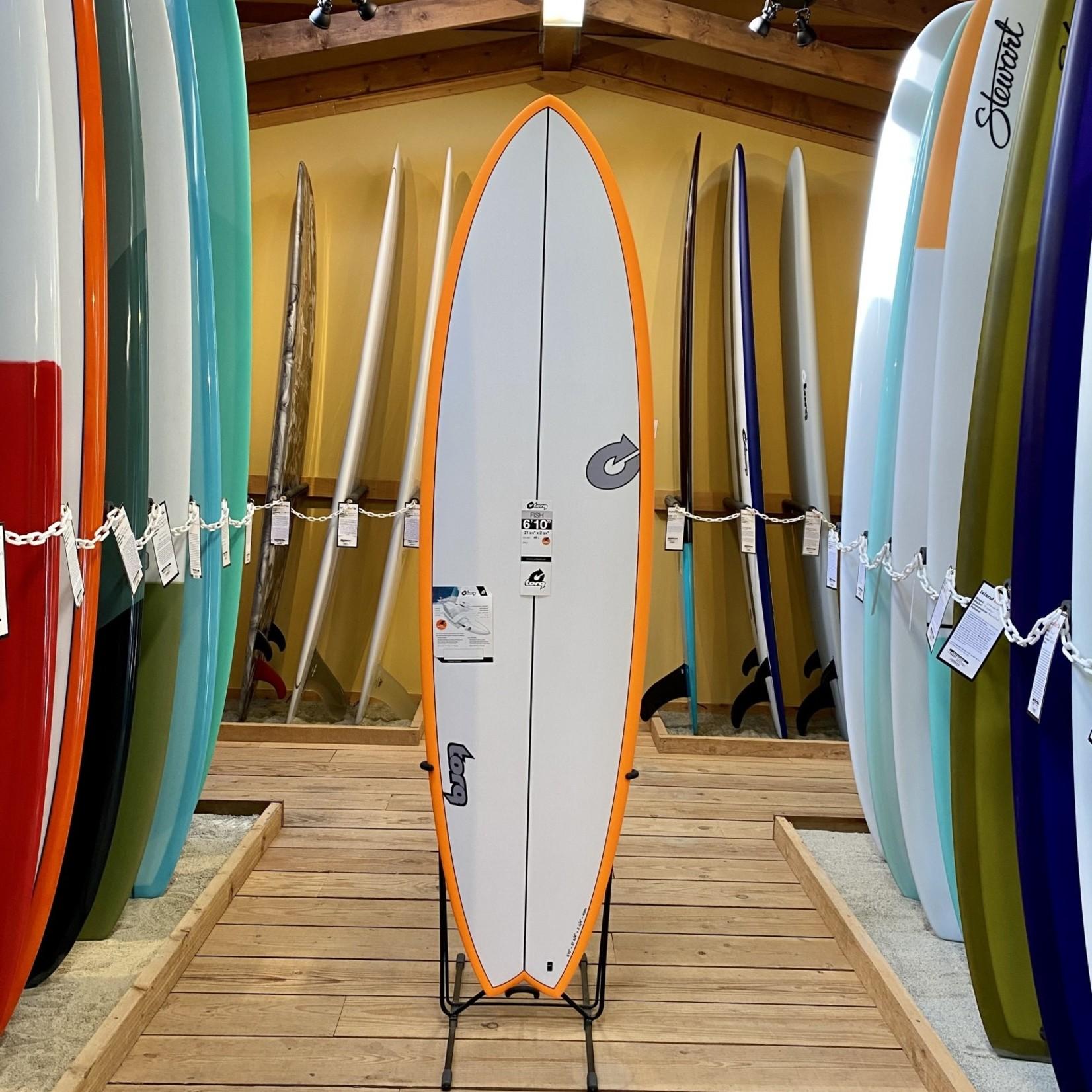 TORQ Surfboards 6'10 Torq Tet Fish, Orange Rail Carbon Stringer.