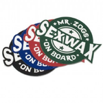 """SEX WAX Sexwax On Board Sticker 4"""""""
