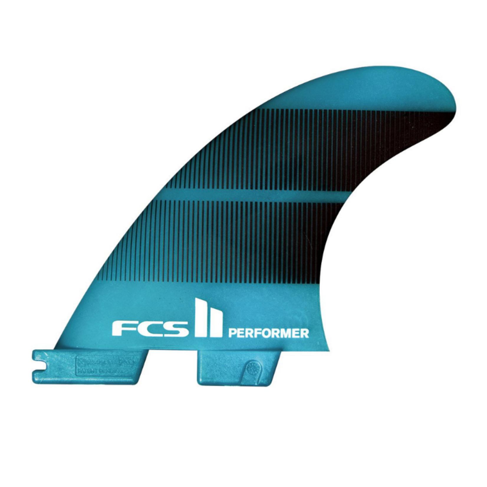 FCS II FCS II Performer Neo Glass Teal Gradient Tri Fins