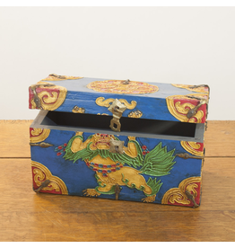 dZi One of a Kind-Hand Painted Chest-Blue