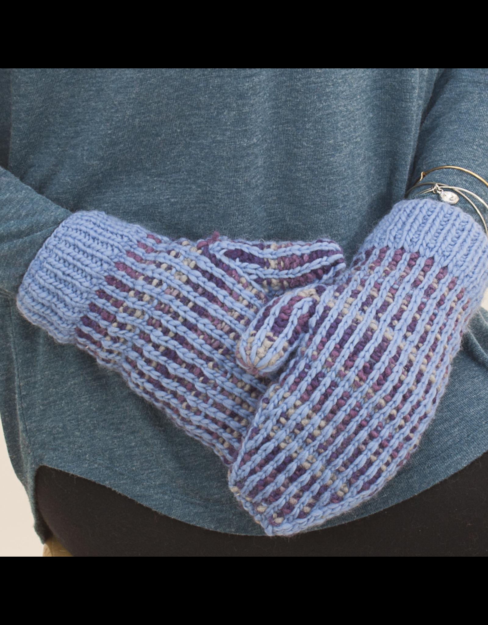 The Sweater Venture Polka Dot Fleece Lined Mittens