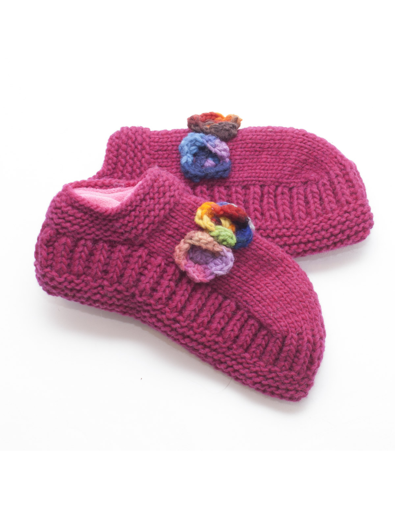 The Sweater Venture Booties w/Flower - P-16479
