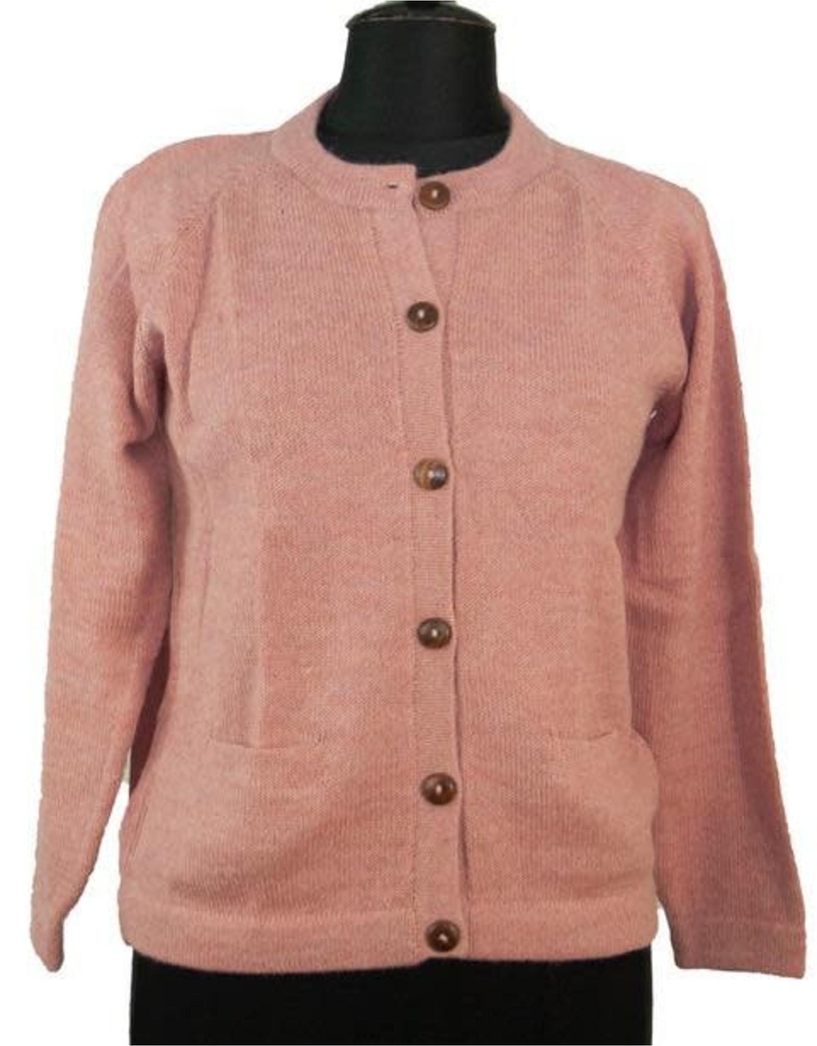 The Sweater Venture Alpaca Crew Neck Cardigan for Women