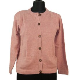 The Sweater Venture Alpaca Crew Neck Cardigan for Women