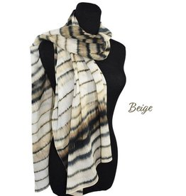 Dupatta 100% Cotton Handpainted Stripes Scarf