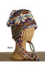 The Sweater Venture Snowflake Fleece Lined Flap Cap