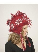 The Sweater Venture Snowflake Fleece Lined Fringe Top Hat