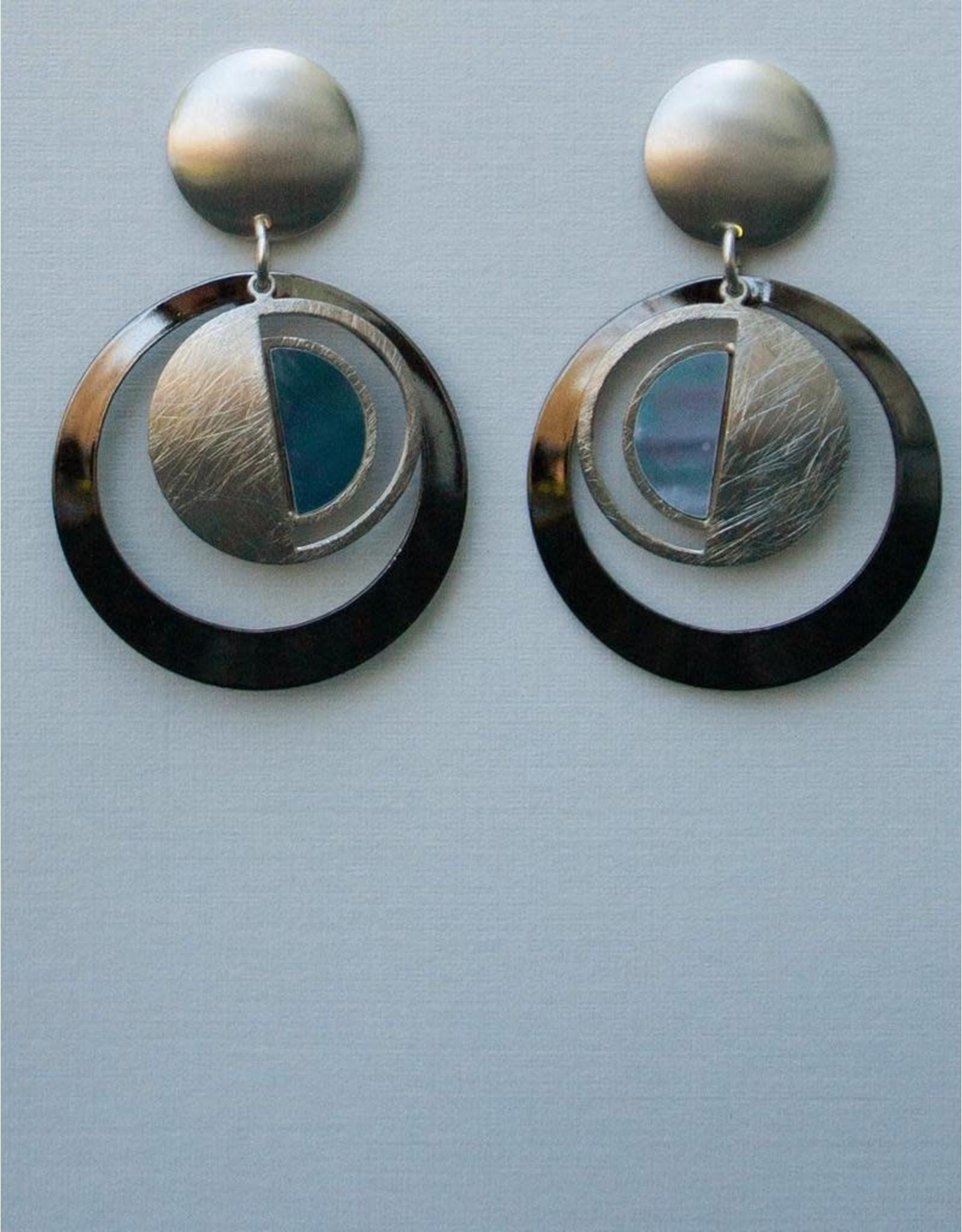 John Michael Richardson Two Tone Clip-On Earring