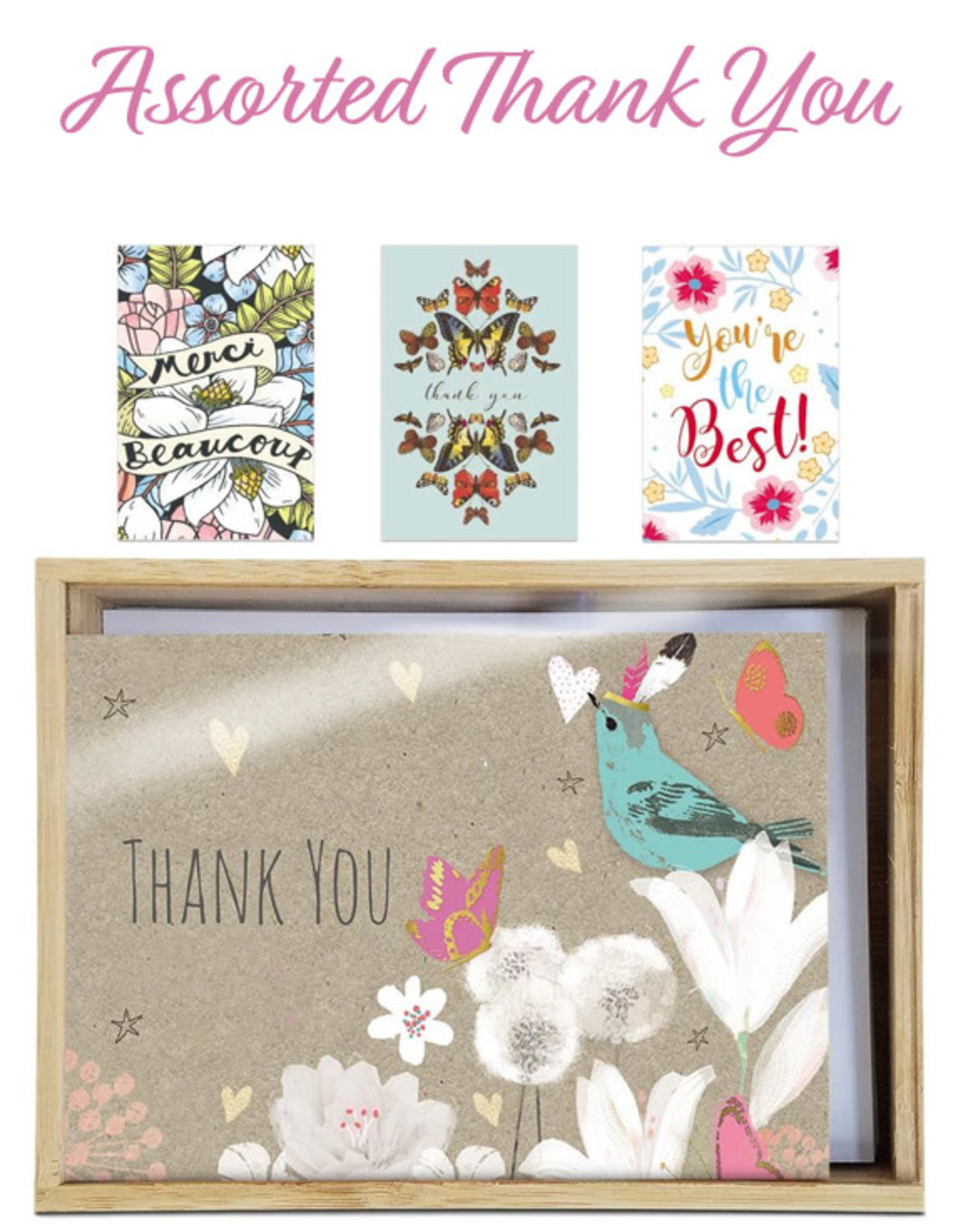 Tree-Free Cards Assorted Artful Thanks Note Cards
