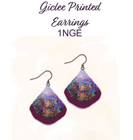 Illustrated Light Layered Giclee Earrings