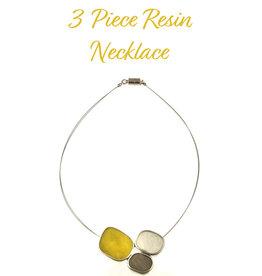 ORIGIN 3 Piece Resin/Alum Necklace/Pendant