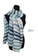 Dupatta 100% Cotton Handpainted Stripes Scarf