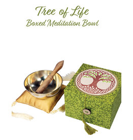 dZi Tree of Life Boxed Singing Bowl 3.5""