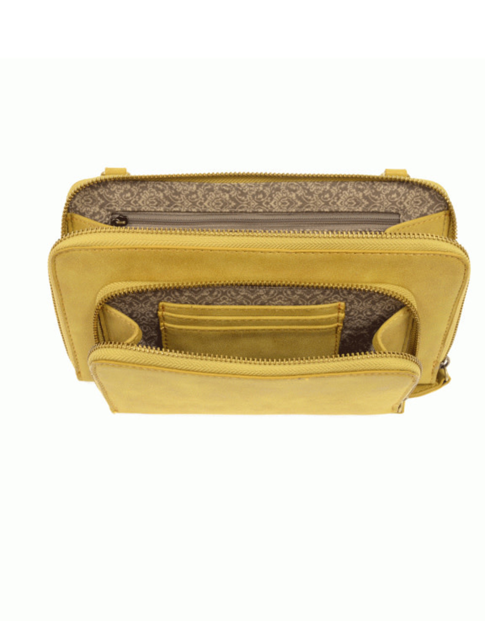 Joy Accessories Brushed Leather Mini Convertible ZipUp