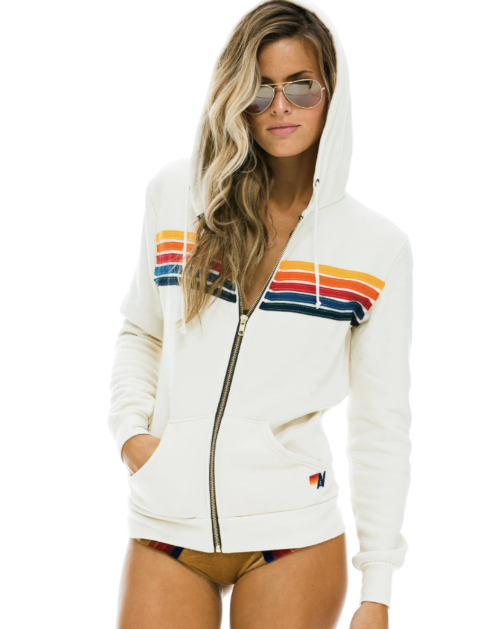 Aviator Nation 5 Stripe Hoodie