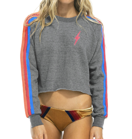 Aviator Nation Bolt Cropped Crew