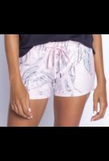 PJ Salvage Pink Marble Shorts