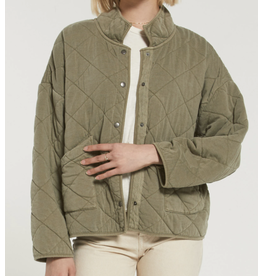 Z Supply Green Quilted Jacket