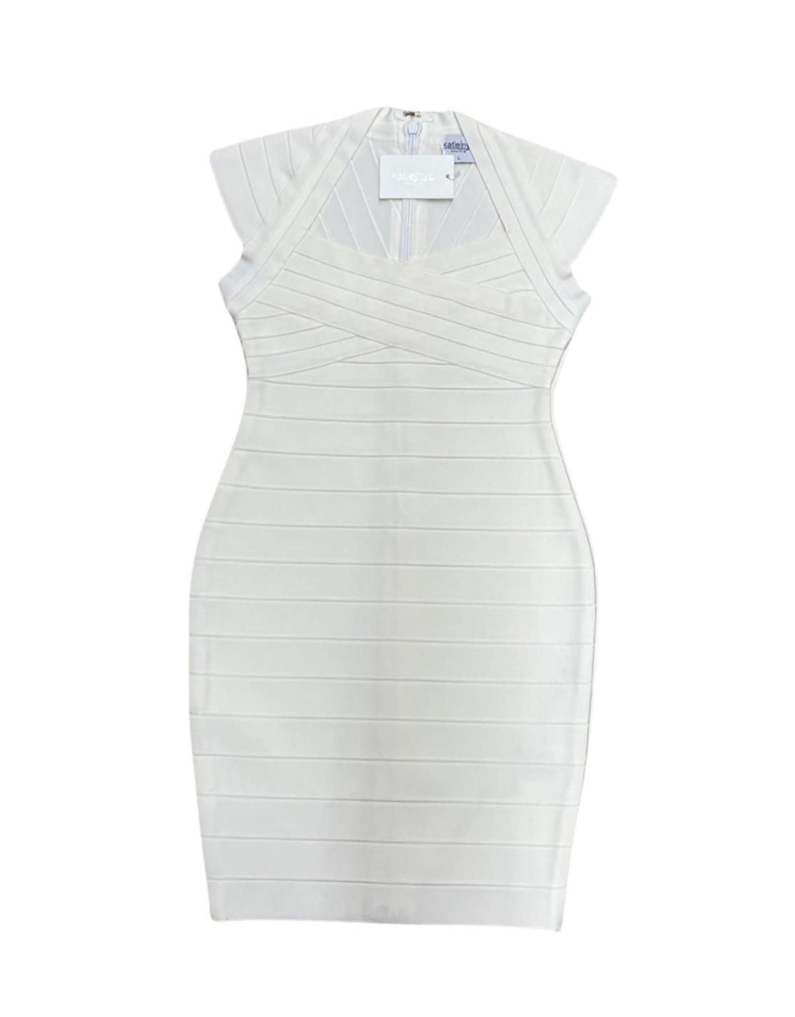 KATIEJNYC KJ Girls Multi Bandage Cap Slv Dress