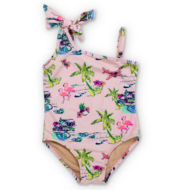 shade critters Tiki One Shoulder Swimsuit
