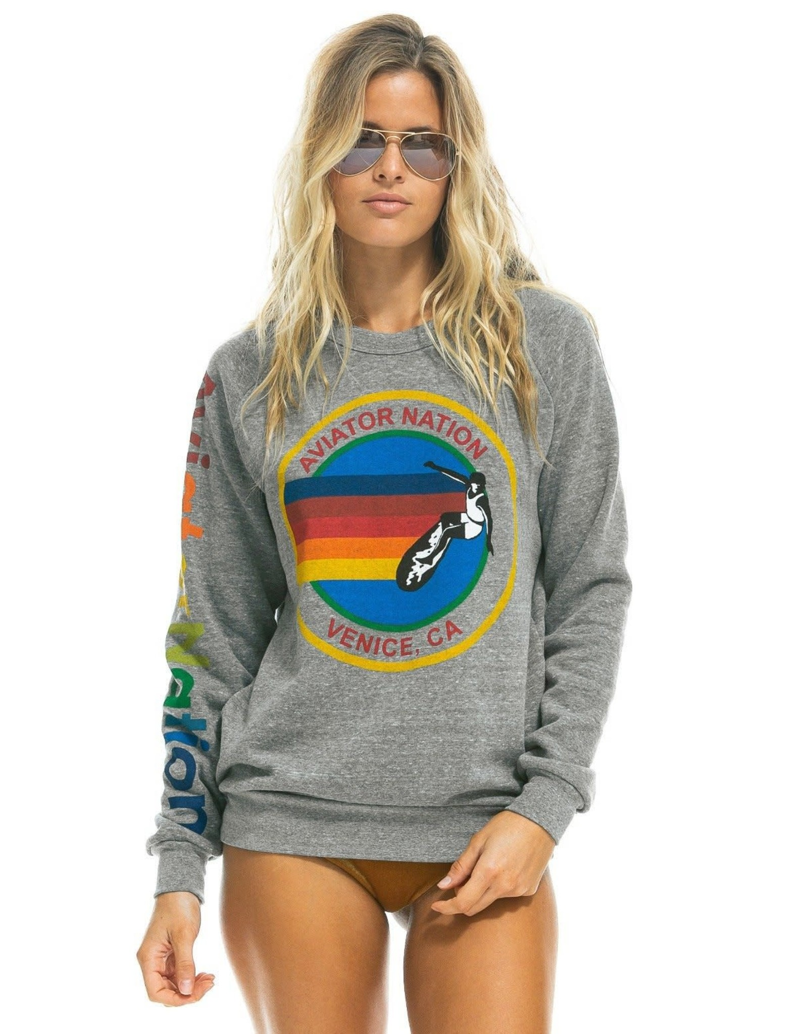 Aviator Nation AN Signature Crew Sweatshirt