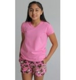 Candy Pink Fuzzy Shorts
