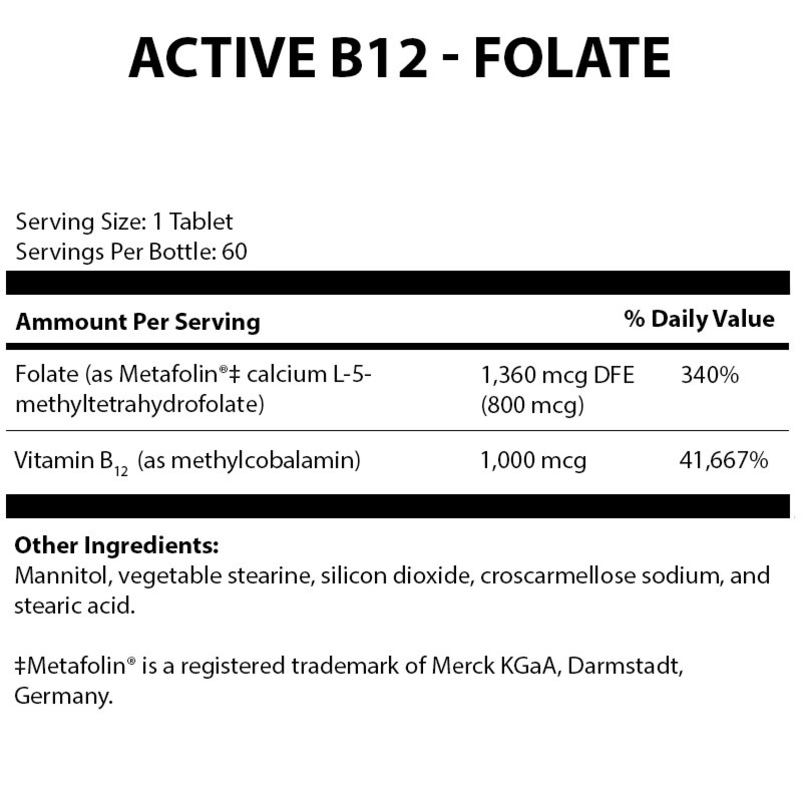 Alpine Clinic Private Label Active B12-Folate